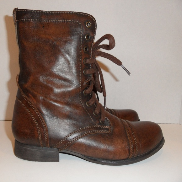 3aa5b617cbe Troopa Combat Boots Brown Leather Distressed. M 5bdc68e9a5d7c6c014a0cfde